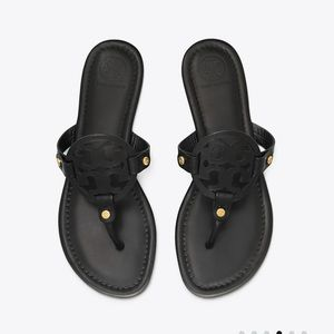 Tory Burch black leather millers size 8.5